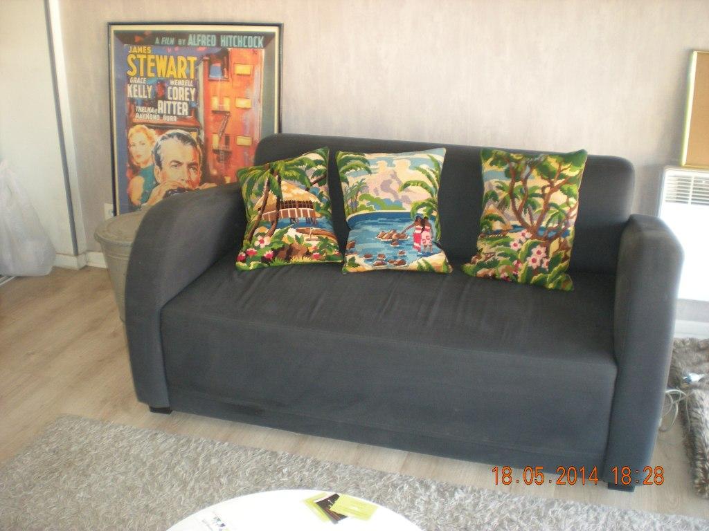 Une belle touche de couleur et d'originalité !!! Merci Blandine pour votre achat ... le triptyque canevas vintage Vahiné .