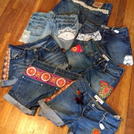 Une série de shorts customisés